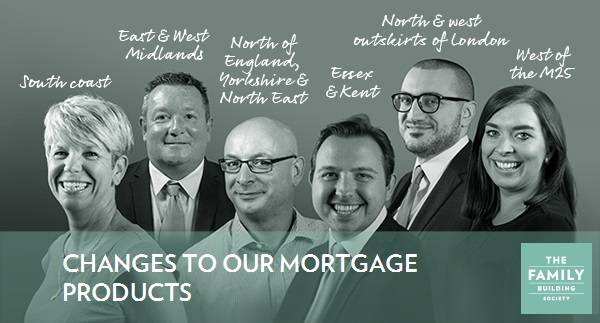 Group photo of the BDMs with the text Changes to our mortgage products