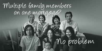 Multiple family members on one mortgage? No problem